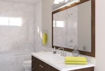 Neutral Colors for Your Bathroom Design / Creating your favorite bathroom theme begins with the perfect backdrop. Today's homeowners are opting for neutral or light-colored paint tones and bathroom tiles to complement their bolder accent colors and accessories.