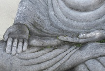 budda / budda, skulpturer , from may daugther in front off the house