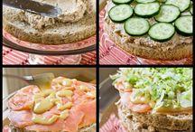 Slané dorty a sendviče