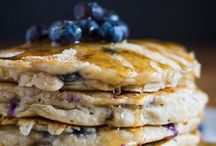 pancake banan blueberry