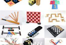 Buiten Spelletjes / Leuke verzameling buiten spelletjes voor jong & oud.  Croquetspel, Dammen, Schaken, 4 op1 rij, Mikado, Domino, Hinkelen, Slagbal en nog veel meer