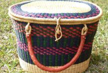 Great  Bolga Storage Baskets / Here are some strong, functional, larger size Bolga storage baskets.
