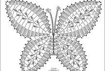 Háčkování motýl