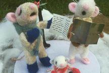 black Friday sale _felt mice, carol singing mice