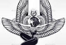 Tatuaże ze skrzydłami
