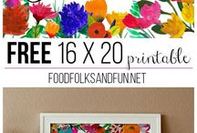 Free printables ♥ / Free printables that'll brighten up your day ♥