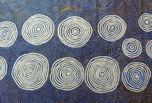 Barney Campbell Tjakamarra / Barney painted a number of dreaming stories and depictions of the Tingari Cycle associated with the MacDonald Ranges and Tjukurla utilizing  different techniques when painting. One style incorporated the use of roundels in dot form or in block form.