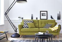 Lime green sofa ideas