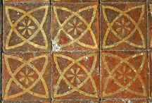 "pottery - tiles - ""atomic"" ovals"