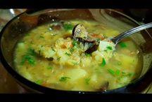 Горячее супы и вторые блюда