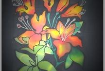 Varga Adrienne | Selyemfestés tanfolyamok / Akvarell festése selyemre
