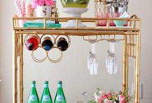 Carrinhos de chá na decoração