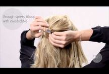 Es4Hair Invisibobble movies / Invisibobble do it yourself tutorials for long hair styling.