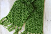 Crochet scarves/cowls/mittens