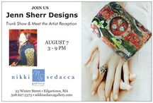 Trunk Show Marthas Vineyard : Nikki Sedacca Gallery August 7 / For those of you who travel to Martha's Vineyard in August please visit Nikki Sedacca Gallery in Nevin Square: Edgartown, August 7, 2015 , Jenn Sherr will be there from 3-7pm showing over 100 pieces,