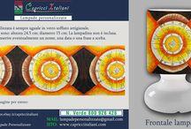 Etnico / Lampade da Tavolo in vetro soffiato a bocca con l'immagine desiderata etnica. E' possibile inviare la foto desiderata o scegliere tra quelle proposte. www.capricciitaliani.com