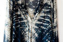 farbené šaty / inšpirácie k tvorbe motívov farbených a odfarbovaných textílií