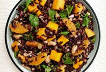Black Rice Salad with Mango and Peanuts / Fruit is a welcome addition to savory grain salads. Here, mangoes and oranges add color and sweetness to the deep-purple hue of black rice. It's delicious with grilled fish. http://bestlifeblueprint.bizblueprint.com/healthy-recipies/black-rice-salad-with-mango-and-peanuts