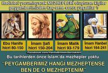 Mezhep Taassubu / PEYGAMBERİMİZ HANGİ MEZHEPTENSE BEN DE O MEZHEPTENİM
