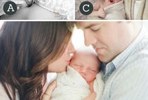 Baby and parents poses