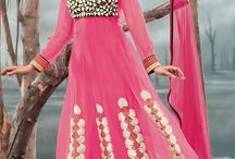 Glamorous Anarkalis / Glamorize your looks in kitty parties with our brand new collection of fascinating anarkali salwar suits @ FLAT 15% OFF..Choose your favorite now from http://www.mishreesaree.com/Online/New-Arrivals/Latest-Salwar-Kameez