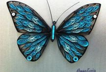 Quilling-butterflies and bugs