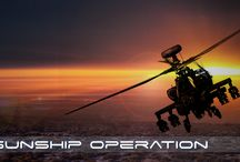 Gunship Operation / Unity Game, where you have to pilot helicopter and destroy all enemy basis.