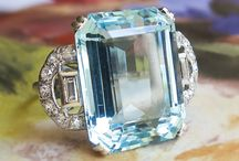 Aquamarine Finds / One of a kind estate, vintage & antique aquamarine jewelry from Jewelry Finds®!!!