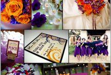 Orange & Purple Clemson Theme Wedding