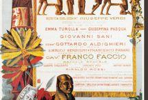 Opera posters. Verdi. Aida
