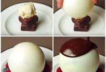 dessert  sphère chocolat