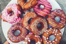 Doughnuts, Beignets and Pretzels.