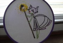 Hooplah / All about hoops. Embroidered, felted, sewn, ANYTHING HOOPS! / by Vanessa Soto
