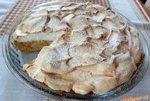 Jablkovy koláč se sněhem