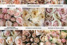 Colour palettes for wedding bouquets
