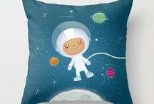 Throw pillow covers / Children's nursery cushion covers