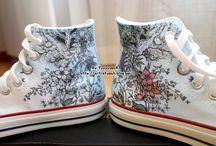 malování na boty