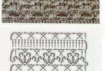 Простые узоры крючком. Simple patterns crocheted