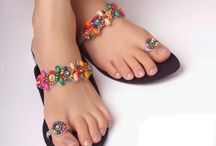SANDALS AND SLIPPERS / Selection of attractive,colorful and complimentary sandals and slippers. These sandals can match most African-inspired and printed outfits.