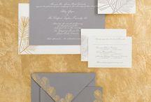 Grey, Gold & Green Wedding Styling