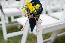 Anna - ceremony / ceremony decor and program ideas - assuming outdoors....