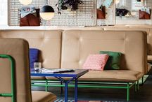 """ROLF BENZ meets 25 HOURS HOTEL ZURICH / Time to call a halt to those dreary hotel lobbies with their standardized interchangeable design – soulless, devoid of fun.  Together with Rolf Benz, the designer Werner Aisslinger has created """"Bench"""", a range of furniture specially for transitional spaces like the lobby, café and bar. This is somewhere you can sit and work, but it's also a wonderful place to relax completely. Something with a soul in the 25 hours hotel Zurich."""