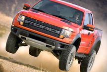 Ford  SVT Raptor Trucks / The SVT Raptor is a high-performance version of Ford's venerable F-150 pickup truck that is one of the most unique and capable off-road production vehicles ever made / by GMC Sierra