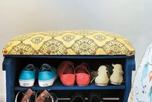 Crate shoe box / Good storage/ seat