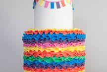 Rufled cake