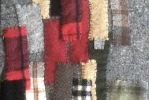 Tapices / Distintos motivos. Tapices mixturas fieltros, lanas, puntos.