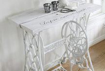stoły ze starych maszyn do szycia