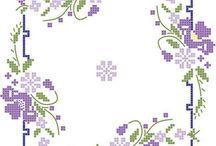 toalhas de mesa / ponto cruz