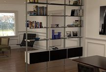 shelving units as screens