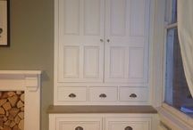 Bedroom wardrobes / Creating lots of storage with a wardrobe in keeping with the room's charming character